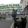 Los trabajadores de Econtrans se movilizaron al Ministerio de Trabajo