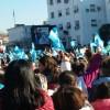 Luego del reclamo de las organizaciones, se hizo la promesa a la bandera en la Plaza San Martín