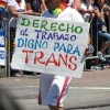 Personas Trans Autoconvocadas reclaman la Ley de cupo laboral trans