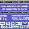 Foro en Defensa del Trabajo y la Producción en Morón.