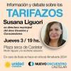 Charla debate sobre los tarifazos en Castelar