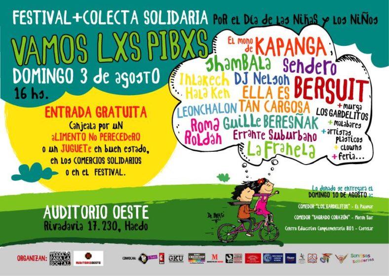 """92d96af9a4bad Festival y Colecta Solidaria """"Vamos lxs pibxs"""" 2014"""