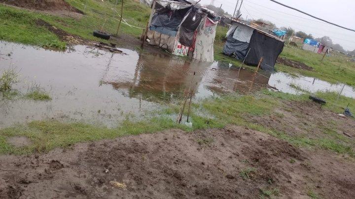 barrio la Nueva Unión inundado tras la lluvia